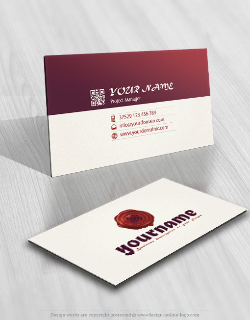 Wax seal logo Notar