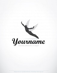 01501-ready-made-FLY-MAN-wings-exclusive-logo-design