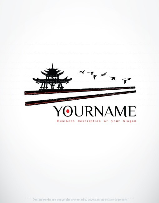 Ready hand made Logo design in Asian Chinese Japanese style