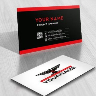 Ready made eagle logo business card