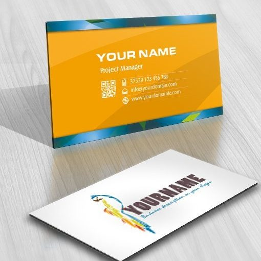 Colorful Parrot Logo Business Card design