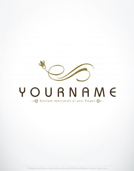 Luxury floral logo