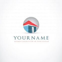 Ready made Real Estate Logo Design with the symbol of Villa House