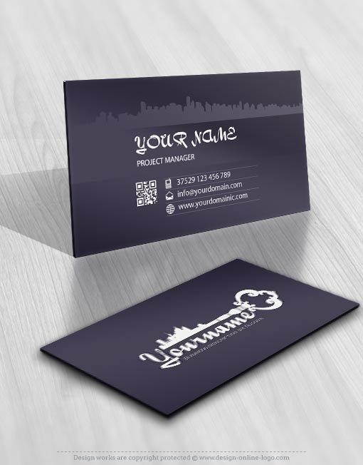 Exclusive design real estate key logo compatible free business card real estate vintage key logo reheart Image collections