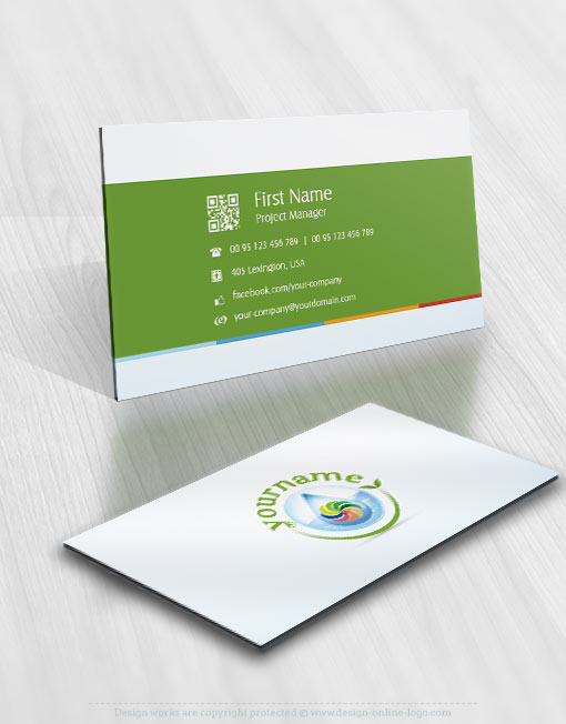 Exclusive design eco energy logo free business card eco environmental company logo design reheart Images