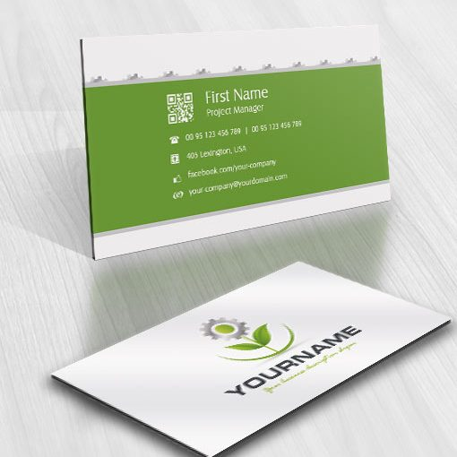 Exclusive design industrial flower logo free business card for Industrial design business card