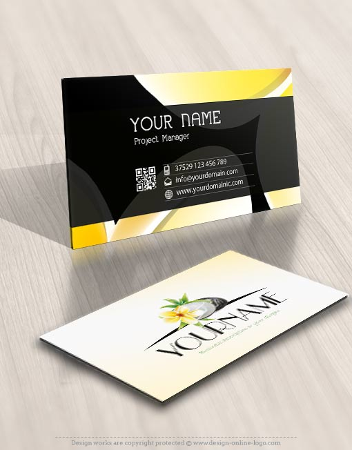 Exclusive Spa Logo Design Compatible FREE Business Card