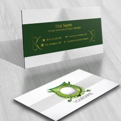 Ready made Logo design golf golfing club business card