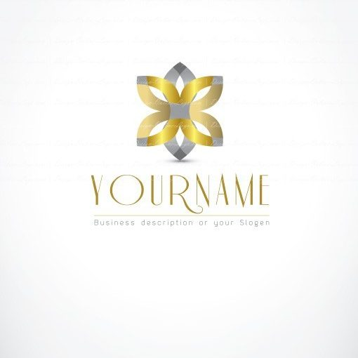 online Logo design gold flower