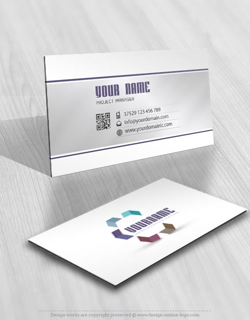 high tech 3D arrow logo design business card