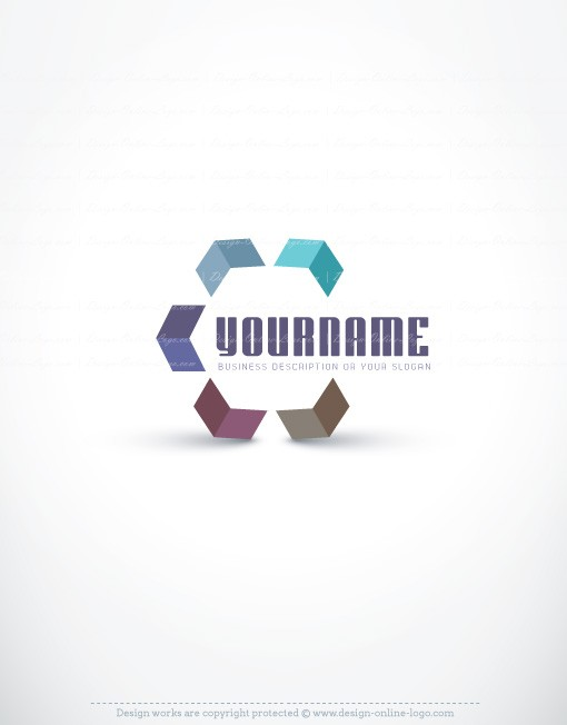 high tech three dimensional arrow logo design template