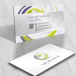 paint brush spiral ready made logo design free business card