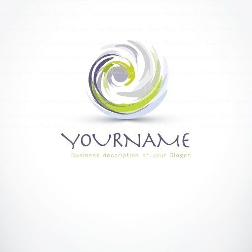 paint brush spiral ready made logo design