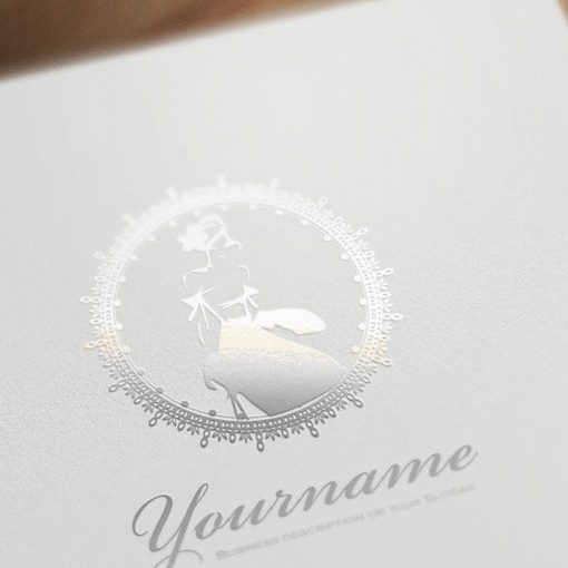 Ready Logo designed with the symbol of a woman wearing a luxury dress