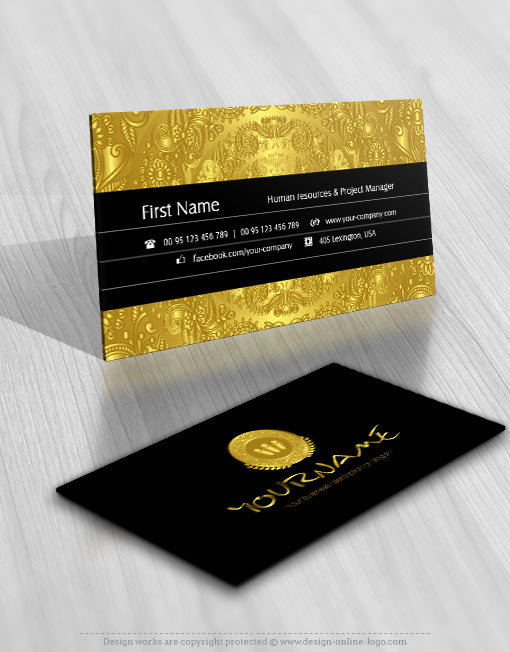 Exclusive design gold coin logo compatible free business card gold coin logo design for sale business card reheart Images