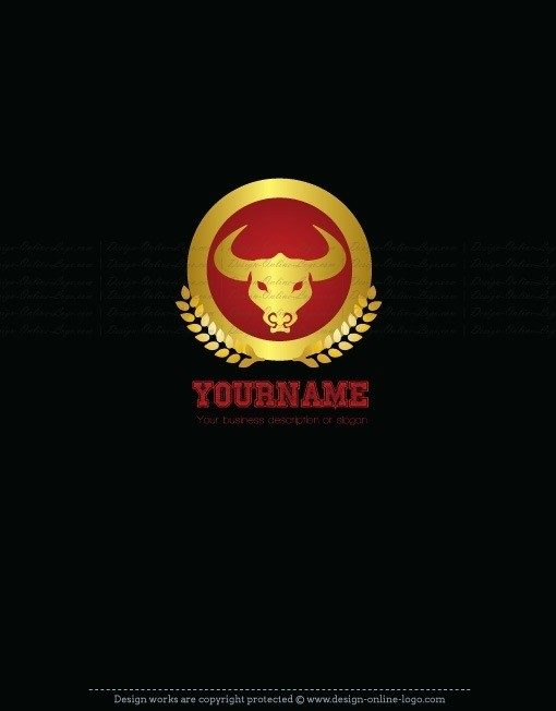 Ready made Professional logo design with a Powerful bull Symbol