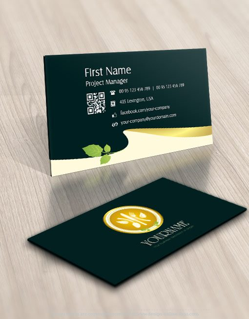 Healthy food restaurant logo business-card