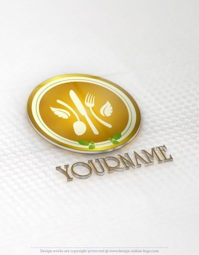 Healthy food restaurant logo design template