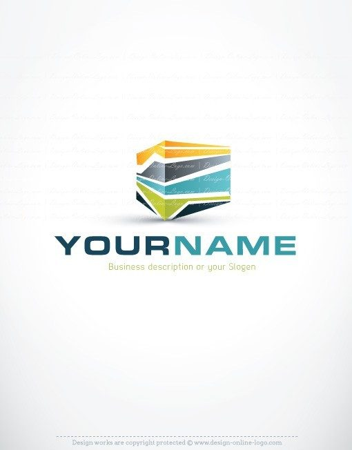 Ready made Logo design with a high tech three dimensional cube