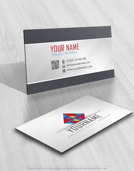 3D Colorful geometric Logo + Compatible FREE Business Card