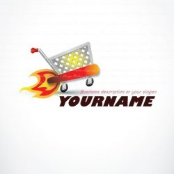 Ready made Logo Design with a speedy web shopping cart