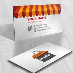 Ready made Logo Design with a red shopping bag business-card