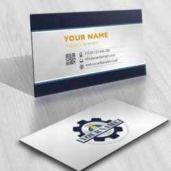 Ready made Logo with an innovative Industrial Gear business-card