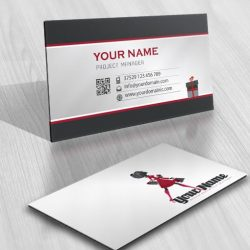 Ready made Logo business card-design with the symbol of a woman and shopping bags & gifts