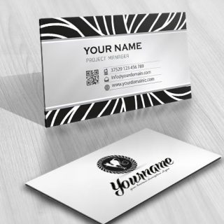 Ready made cat logo design business card