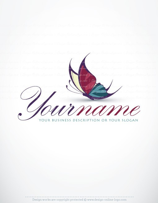 logo template Butterfly