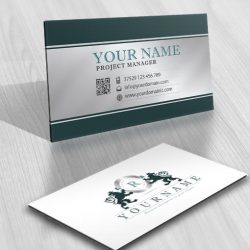 Alphabet logo design business card vintage lions