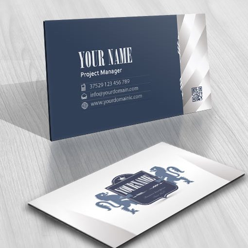 Ready made Old English style logo business card design