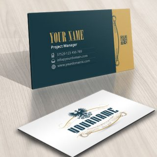 Ready made logo design vintage Eagle business card