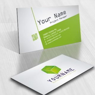 Computer Logo design lines Internet business card