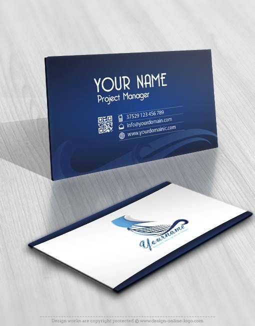 Ready hand made logo business card design  Boat Ship Yacht Sailing