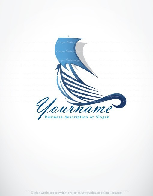 Ready hand made logo design with icon of Boat / Ship / Yacht Sailing