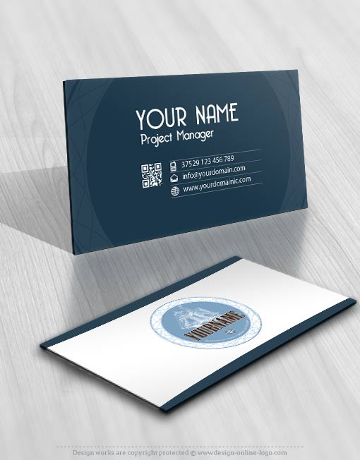Logo design and business card ship Yacht