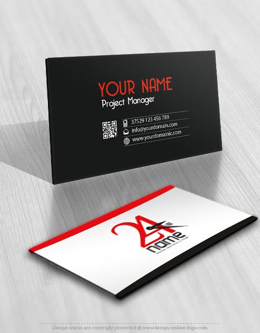 24 HOURS TIME logo business card
