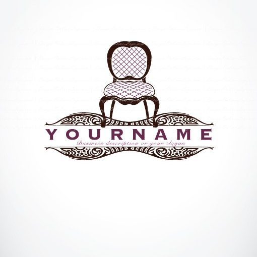 Ready made Logo designed with old retro Chair