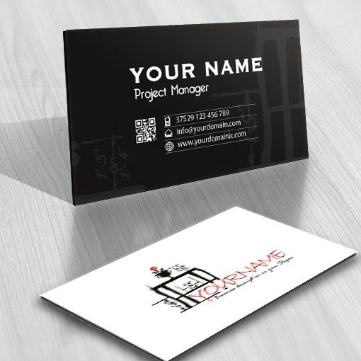 Ready made Logo design Illustrated Table business card