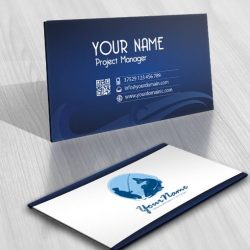 Fisherman fishing logo for sale online business-card