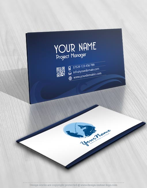 Exclusive design fishing logo compatible free business card fisherman fishing logo for sale online business card reheart Choice Image