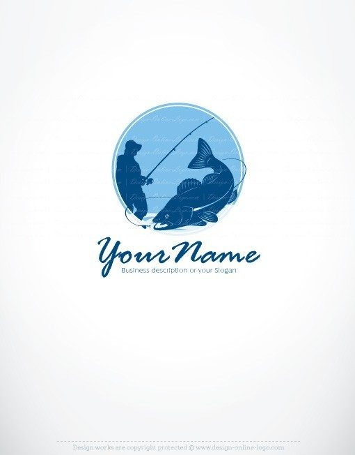 Fisherman fishing logo for sale online