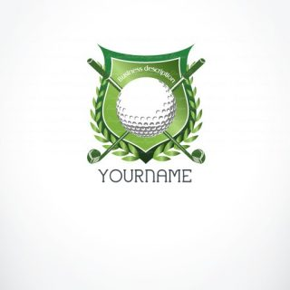 Ready made Logo designed for golf game or golfing club / shop.