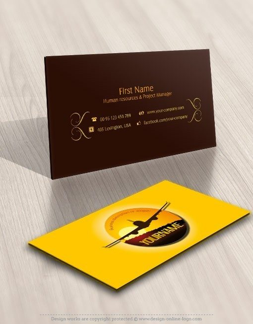 cargo logo design symbol plane business-card