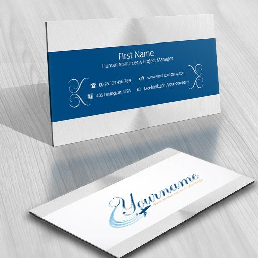 Ready Made Logo Design With The Symbol Of An Airplane Flying Business Card