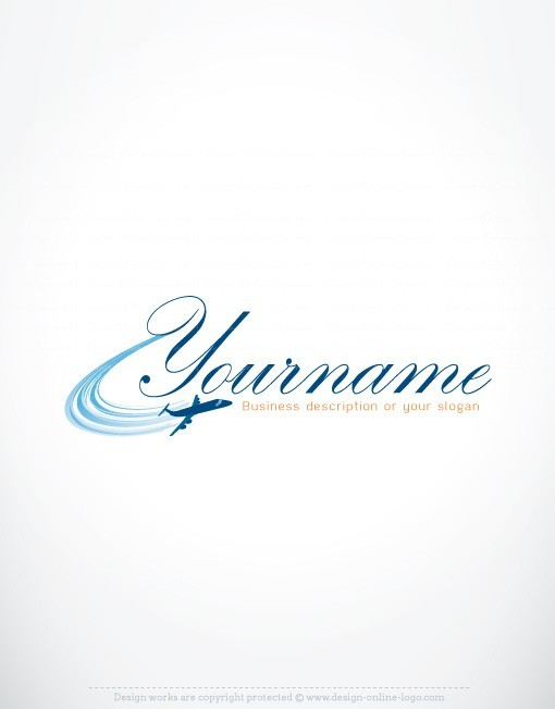 Ready made logo design with the symbol of an airplane Flying