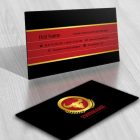 Ready made business card logo design with a Powerful bull