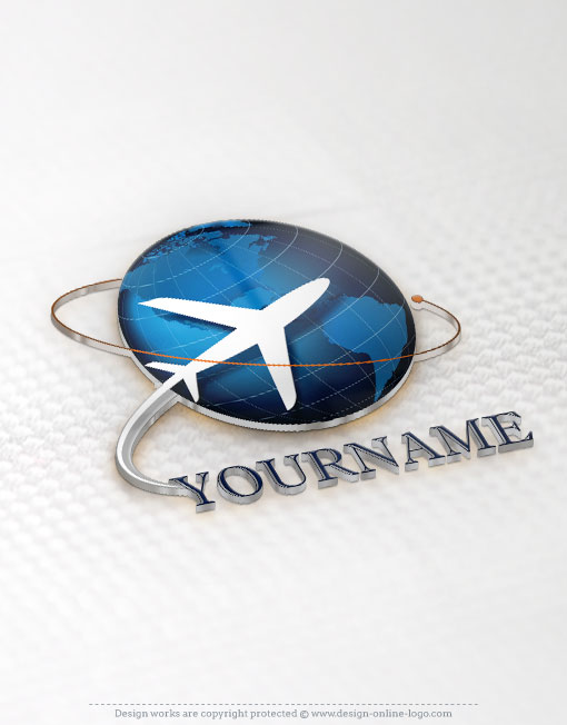 Ready made logo design with the air plane Flying travel
