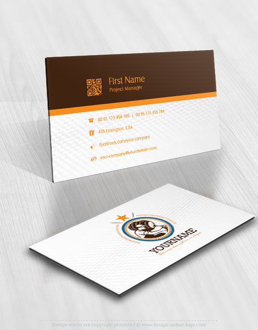 Exclusive design vintage beer logo free business card online ready made beer logo design business card reheart Image collections